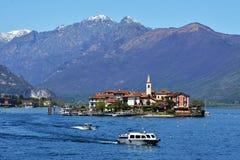 ISOLA PESCATORI-ITALY 2013年4月25日:渔村Isola dei P 库存图片