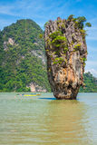 Isola Phang Nga di Phuket James Bond Fotografia Stock Libera da Diritti