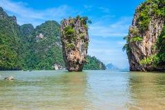Isola Phang Nga di Phuket James Bond Immagine Stock Libera da Diritti