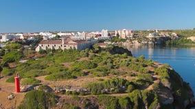 Isola Rey Mahon, Minorca, Spagna video d archivio
