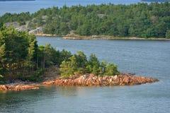 Isola rocciosa in Mar Baltico Fotografia Stock Libera da Diritti