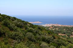 Isola Rossa,撒丁岛,意大利 图库摄影