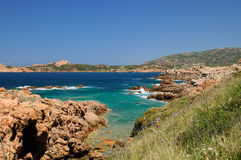 Isola Rossa. Is a beautiful baia in the north of Sardinia Royalty Free Stock Images