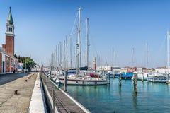 Isola San Giorgio Maggiore in Venice stock photo