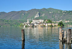 Isola SAN Giulio, λίμνη Orta, Ιταλία Στοκ φωτογραφία με δικαίωμα ελεύθερης χρήσης