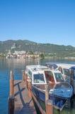 Isola San Giulio at Lake Orta,Italy Stock Images