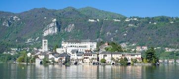 Isola San Giulio,Lake Orta,Italy Stock Photos