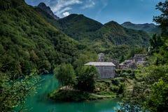 Isola Santa is a ghost village in Garfagnana, Tuscany, Italy Royalty Free Stock Image