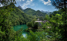 Isola Santa is a ghost village in Garfagnana, Tuscany, Italy Stock Images