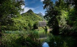 Isola Santa is a ghost village in Garfagnana, Tuscany, Italy Stock Photos