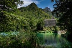 Isola Santa is a ghost village in Garfagnana, Tuscany, Italy Royalty Free Stock Photo
