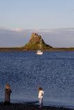 Isola santa, Northumberland Fotografia Stock Libera da Diritti