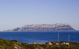 Isola Sardegna di Tavolara Fotografie Stock Libere da Diritti
