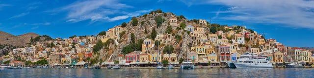 Isola Simi, Grecia fotografia stock