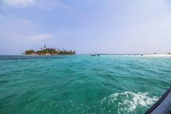 Isola sola nei Caraibi, San Blas Islands Fotografie Stock