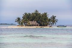 Isola sola nei Caraibi, San Blas Islands Fotografia Stock