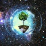 Isola sola nell'universo Immagini Stock