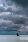 Isola sola, Raiatea, Polinesia francese Fotografie Stock