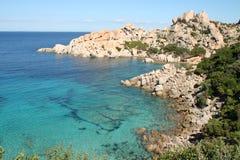 Isola Spargi - Maddalena Archipelago. Crystal clear water in the Cala Corsara, Maddalena Archipelago, Sardinia Stock Photos