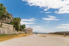 Isola St George di Corfù nel castello Grecia fotografie stock libere da diritti