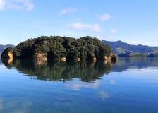Isola sul lago Fotografia Stock