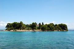Isola sul mare Fotografie Stock