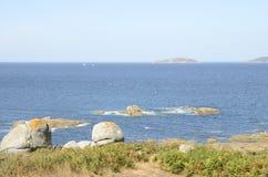 Isola sull'oceano l'Atlantico Fotografie Stock Libere da Diritti