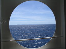 Isola sull'orizzonte Fotografia Stock Libera da Diritti