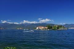 Isola Superiore dei Pescatori and Isola Bella, Lago Maggiore, Italy. Stock Photography