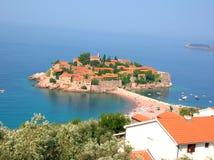 Isola Sveti Stefan fotografie stock libere da diritti