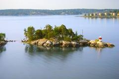 Isola in Svezia Immagine Stock Libera da Diritti