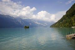 Isola svizzera del lago Immagine Stock Libera da Diritti