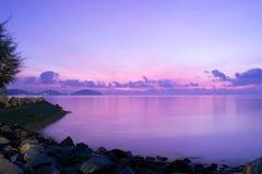 Isola Tailandia di phuket del mare di notte Fotografia Stock