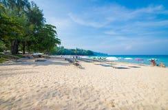 Isola Tailandia di phuket di stagioni estive della spiaggia del modello della sabbia di bellezza Immagini Stock