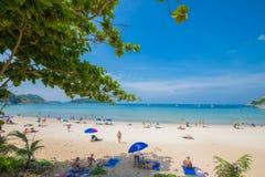 Isola Tailandia di phuket di stagioni estive di punto di vista della sabbia della spiaggia di bellezza Fotografia Stock Libera da Diritti