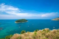 Isola Tailandia di phuket di stagioni estive di punto di vista della sabbia della spiaggia di bellezza Immagine Stock Libera da Diritti