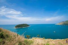 Isola Tailandia di phuket di stagioni estive di punto di vista della sabbia della spiaggia di bellezza Fotografia Stock