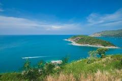 Isola Tailandia di phuket di stagioni estive di punto di vista della sabbia della spiaggia di bellezza Immagini Stock Libere da Diritti