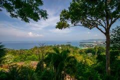 Isola Tailandia di phuket di stagioni estive di punto di vista di bellezza Fotografie Stock Libere da Diritti