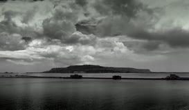 Isola tempestosa Fotografia Stock