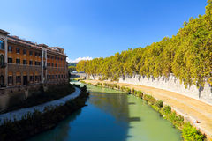 Isola Tiberina arkivbilder
