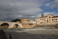 Isola tiberina in Rome Stock Photos