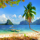 Isola tropicale Fotografia Stock Libera da Diritti