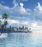 Isola tropicale Fotografie Stock