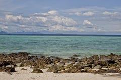 Isola tropicale del bambù della spiaggia Fotografia Stock Libera da Diritti