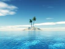 isola tropicale della palma 3D illustrazione di stock