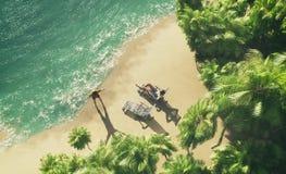 Isola tropicale di paradiso Fotografie Stock Libere da Diritti