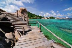 Isola tropicale, Kor Nang-Yuan, Tailandia Fotografie Stock Libere da Diritti