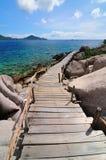 Isola tropicale, Kor Nang-Yuan, Tailandia Immagine Stock