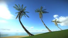 Isola tropicale nella vacanza illustrazione di stock